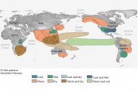 Влияние Эль-Ниньо наразличные регионы Земли