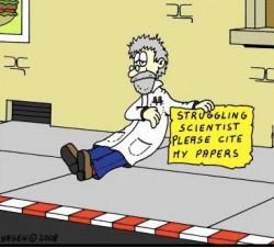 Ученый в бедственном положении. Пожалуйста, процитируйте мои работы